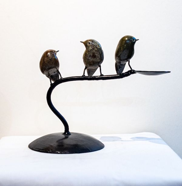 3 little birds - The Gallery Upstairs candle holder