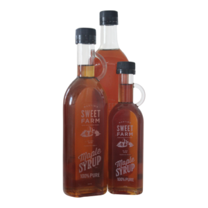 Maple Syrup Martins Sweet Farm available at the Gallery Upstairs