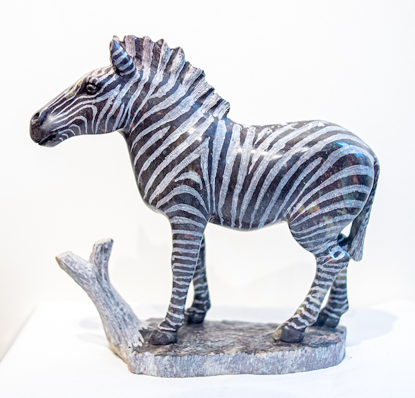 Zebra sculpture - The Gallery Upstairs