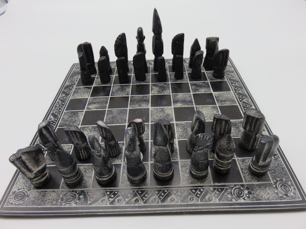 Stone Chess Set 3 - The Gallery Upstairs
