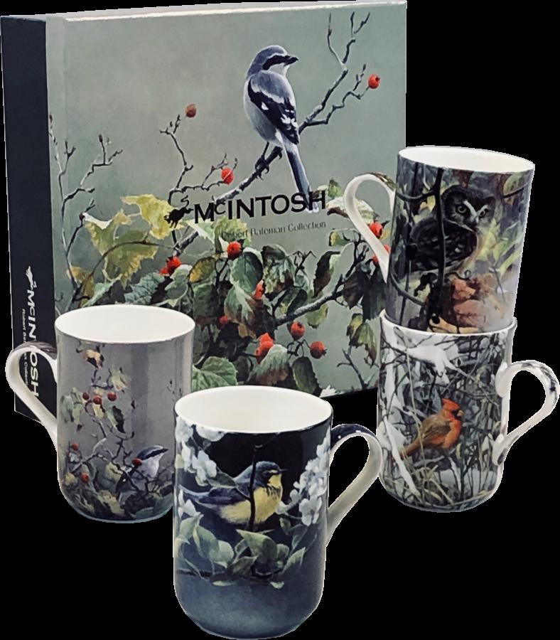 Bateman Birds Mug Set of 4