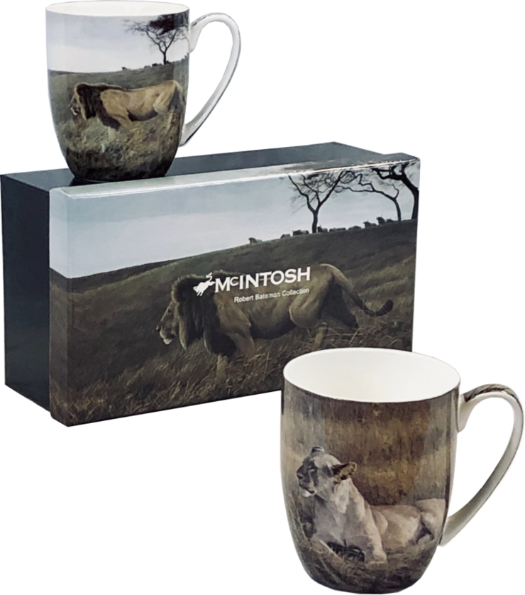 Bateman Lions Mugs set of 2