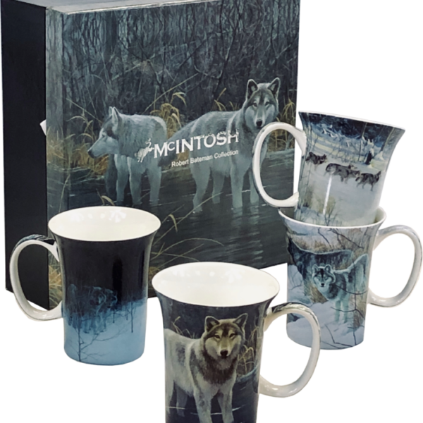 Bateman Wolves Mugs - Set of 4