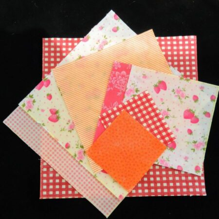 Beeswax kitchen wraps for bowl overs