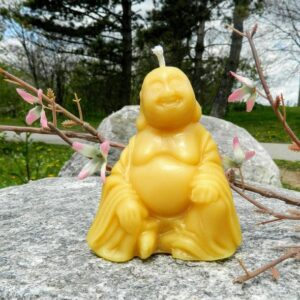 Buddha beeswax candle