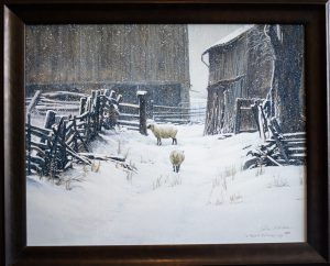 In for the evening - sheep by Robert Bateman