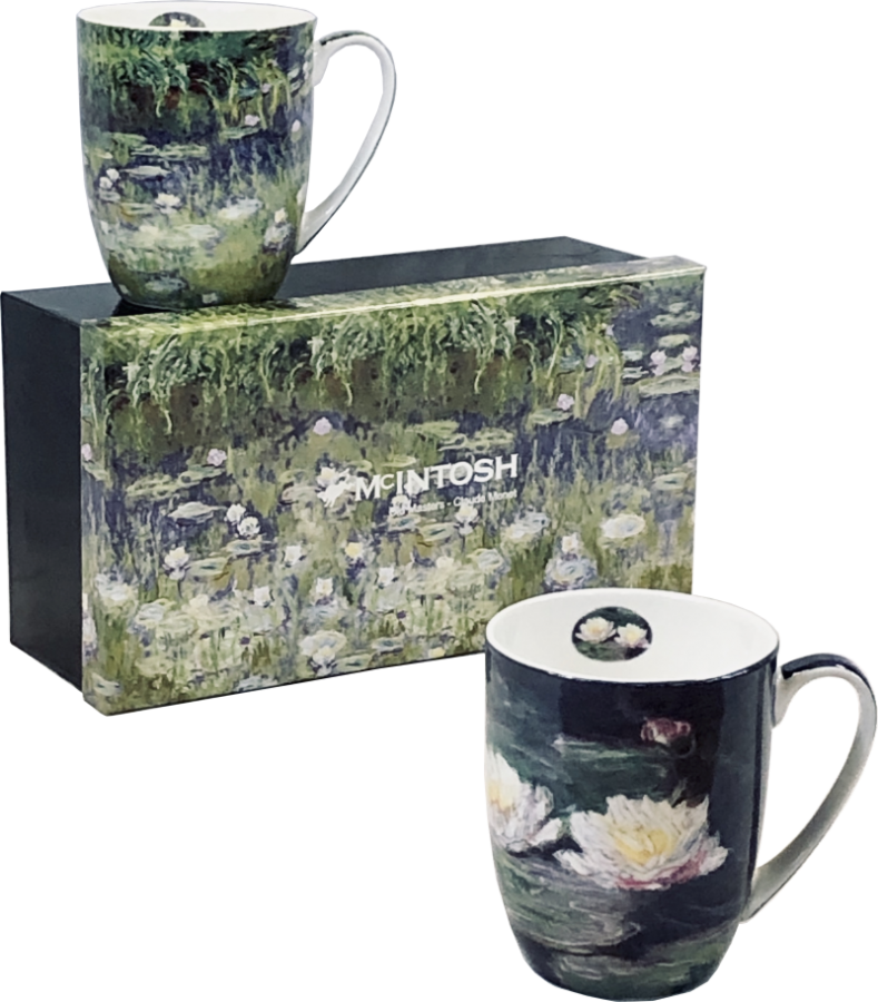 Monet Water Lilies Mug Set of 2