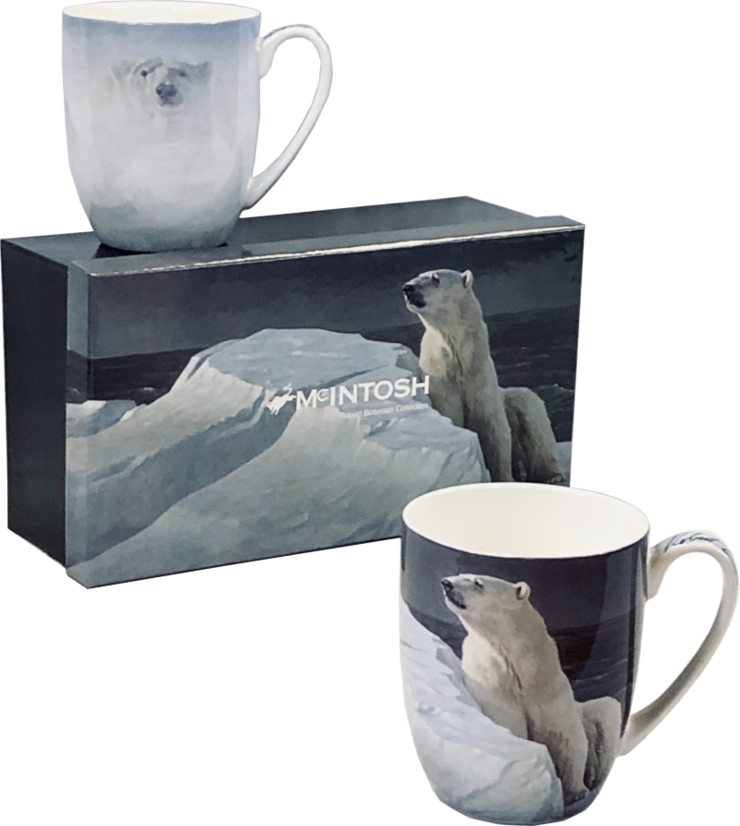 Robert Bateman Polar Bear Java Mug set of 2