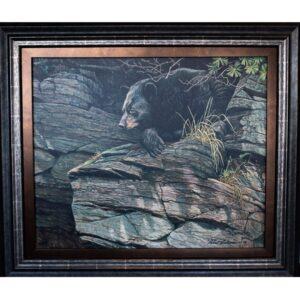 Robert Bateman Watchful Repose Black Bear