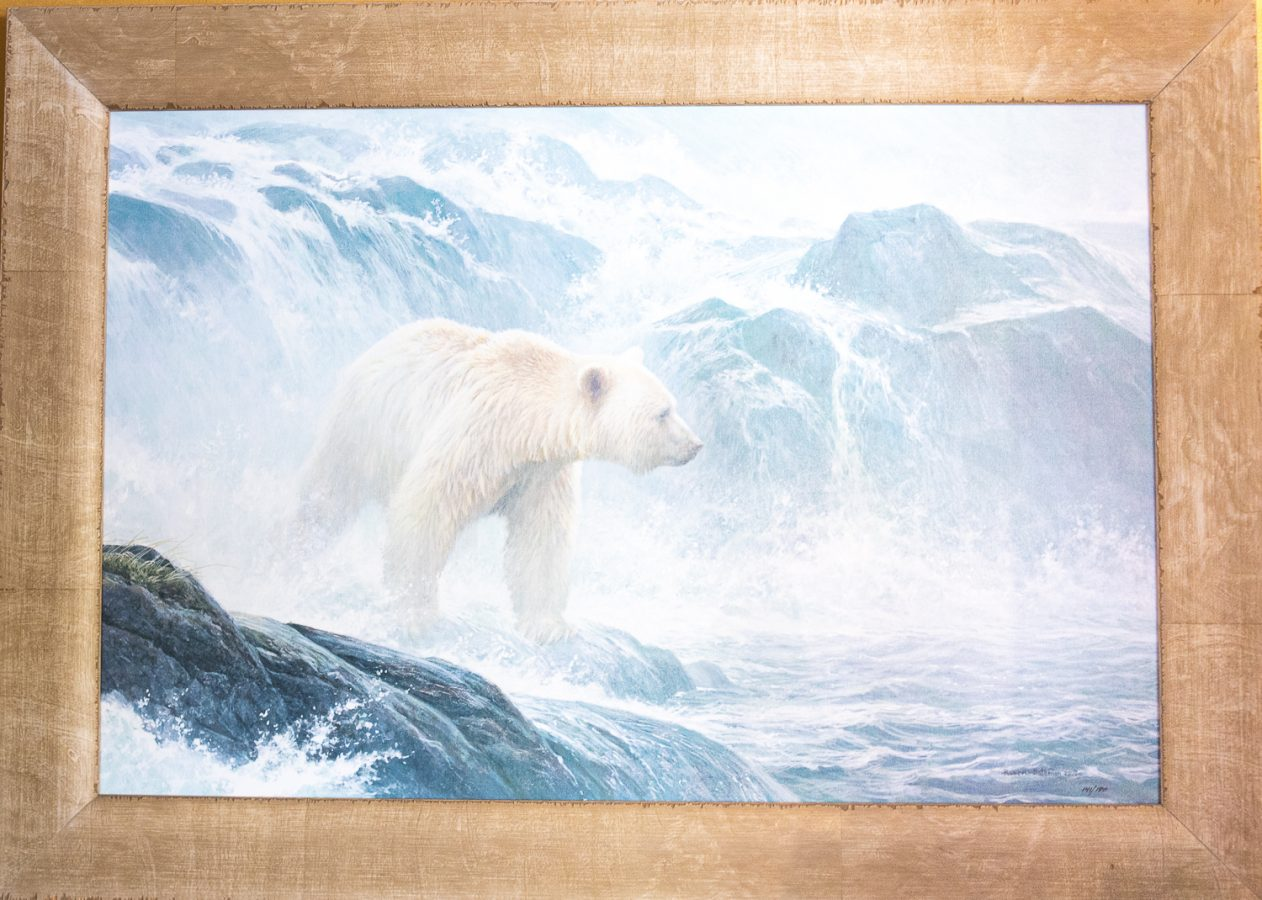 Salmon Watch - Spirit Polar Bear by Robert Bateman