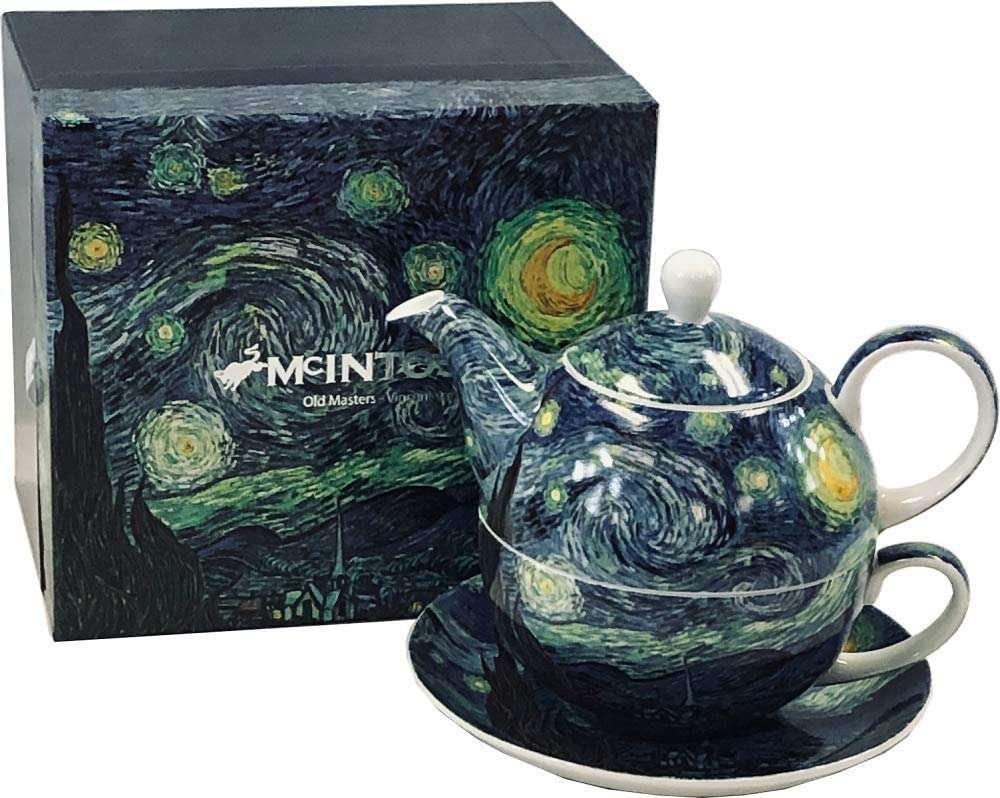 Van Gogh Starry Night tea for One set