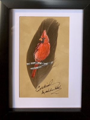 Cardinal Feather Art_01 by artist Betty Hebert