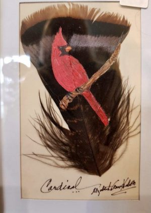 Cardinal feather art - Betty Hebert