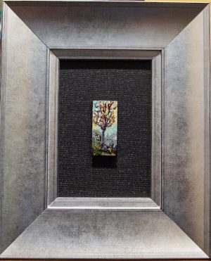 Mini Escarpment Tree framed art from artist Tina Newlove