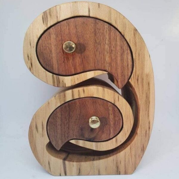 Mother and Child wooden jewellery keepsake box