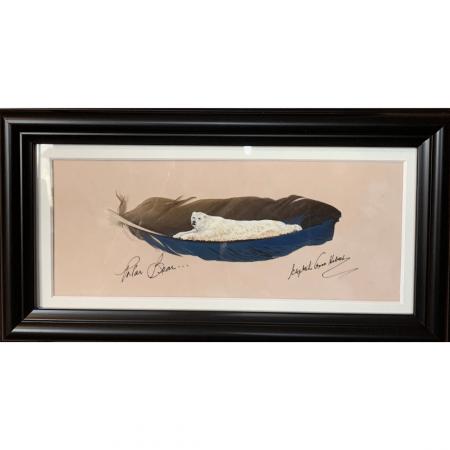 Polar Bear Feather Art from Betty Hebert
