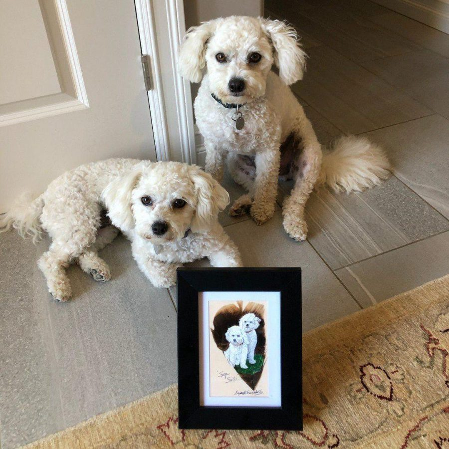 custom feather art from photo - Betty Hebert