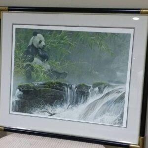 Giant Panda framed art from Robert Bateman
