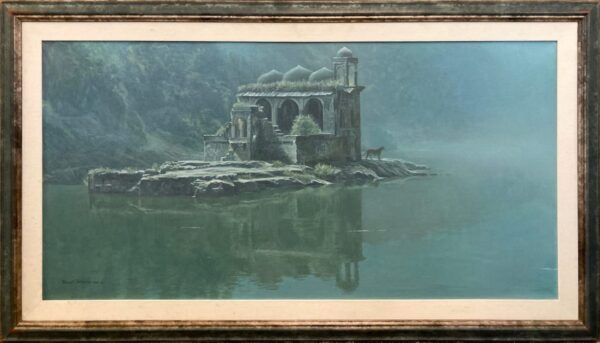 Hindu Temple Tiger - Original Art by Robert Bateman Original