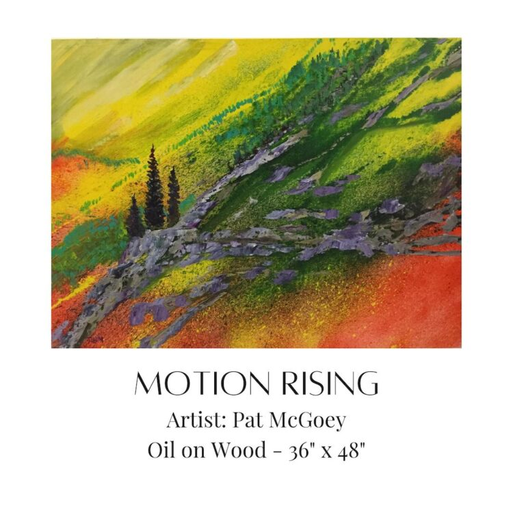 Motion Rising by artist Pat McGoey available at The Gallery Upstairs
