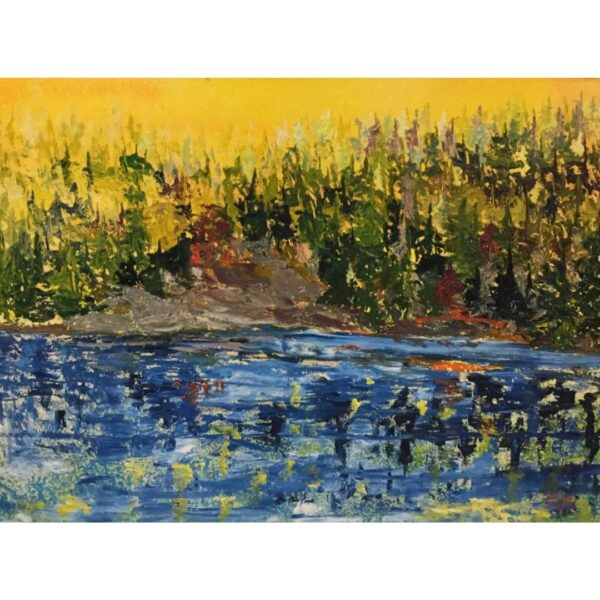 Yellow Harmony by artist Pat McGoey available at The Gallery Upstairs