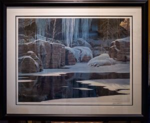 winter reflection by Robert Bateman