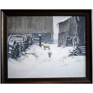 In for the evening sheep by artist Robert Bateman
