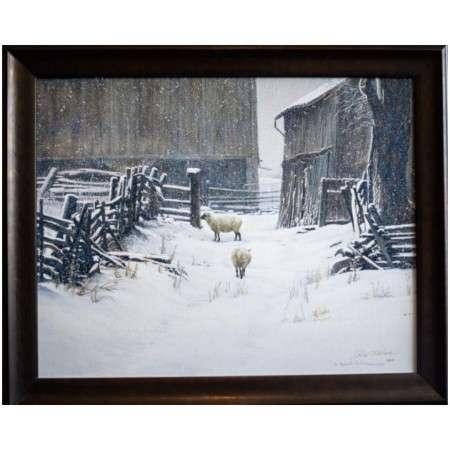 In for the evening sheep by artist Robert Bateman