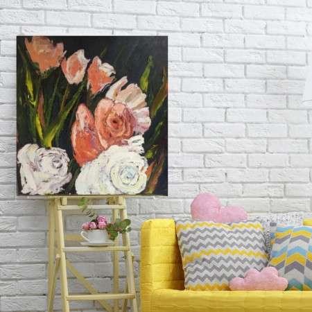 Six Roses by artist Pat McGoey