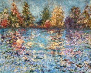 Spring Shore - Fiona Hoop original acrylic art on canvas