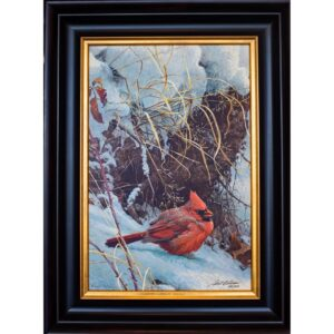 Winter Cardinal by artist Robert Bateman framed print