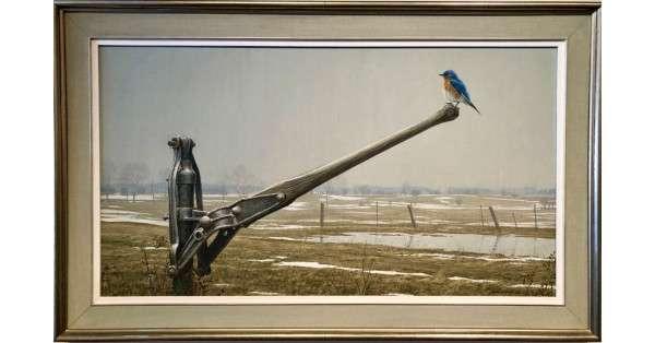 Early Arrival Spring Bluebird - Original Art by artist Robert Bateman - SOLD