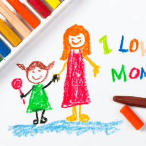 Mother's Day Gift E-card art from child