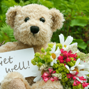 Get Well Gift Card from the Gallery Upstairs - teddy bear