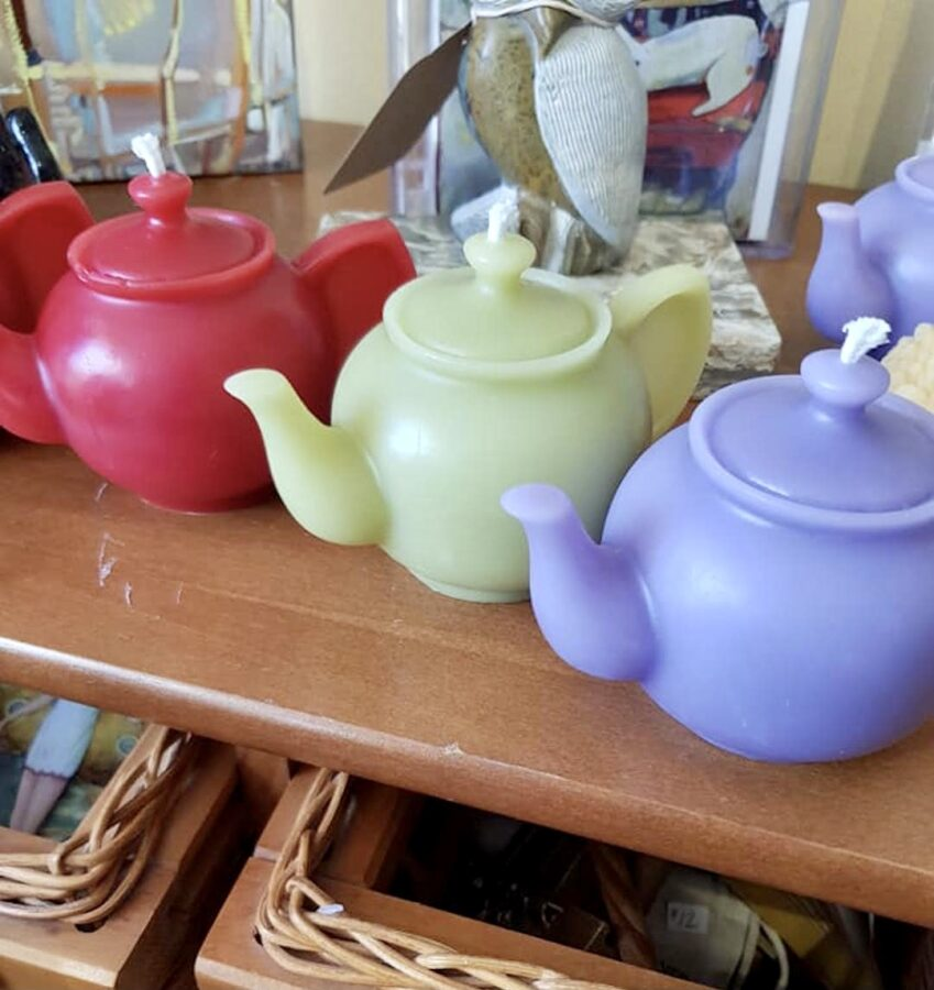 Easter coloured Tea Pot Candles