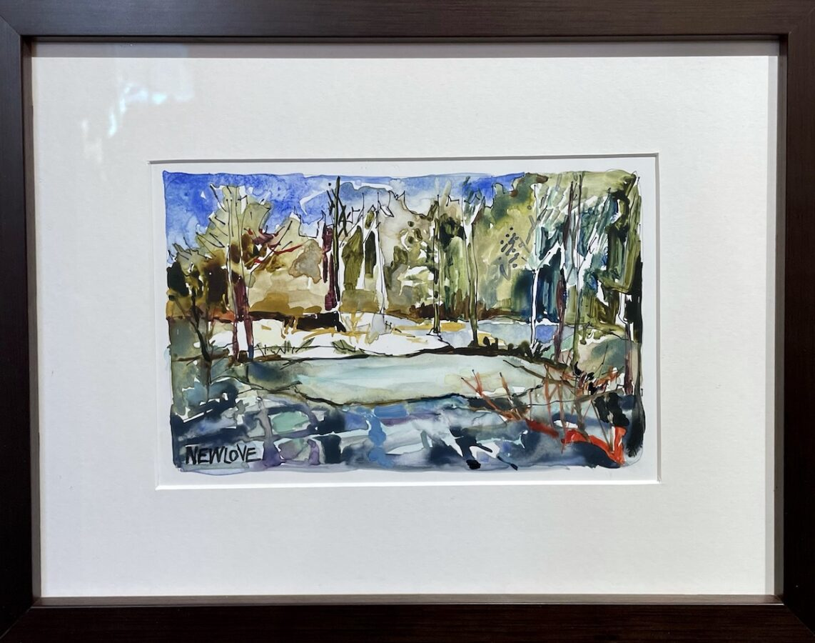 Frozen Pond by artist Tina Newlove