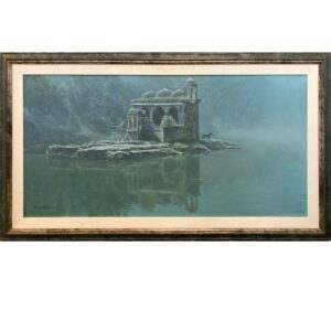 Hindu Temple and Tiger original art from Robert Bateman