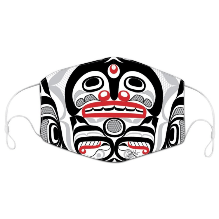 Killer Whale Crosshatch face mask