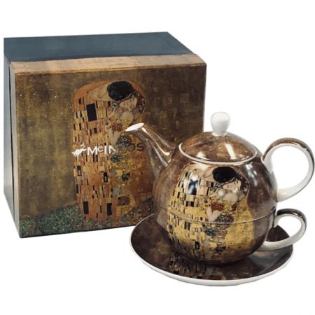 Klimt The Kiss tea pot for one set