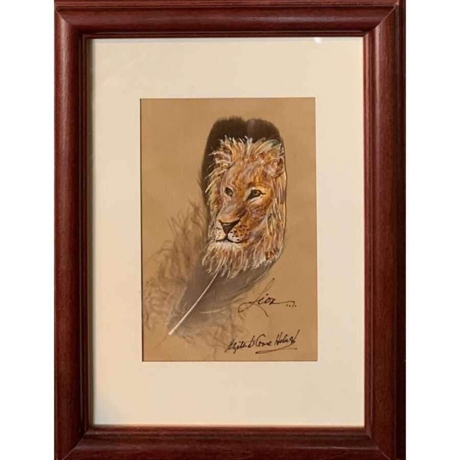 Lion by artist Betty Hebert