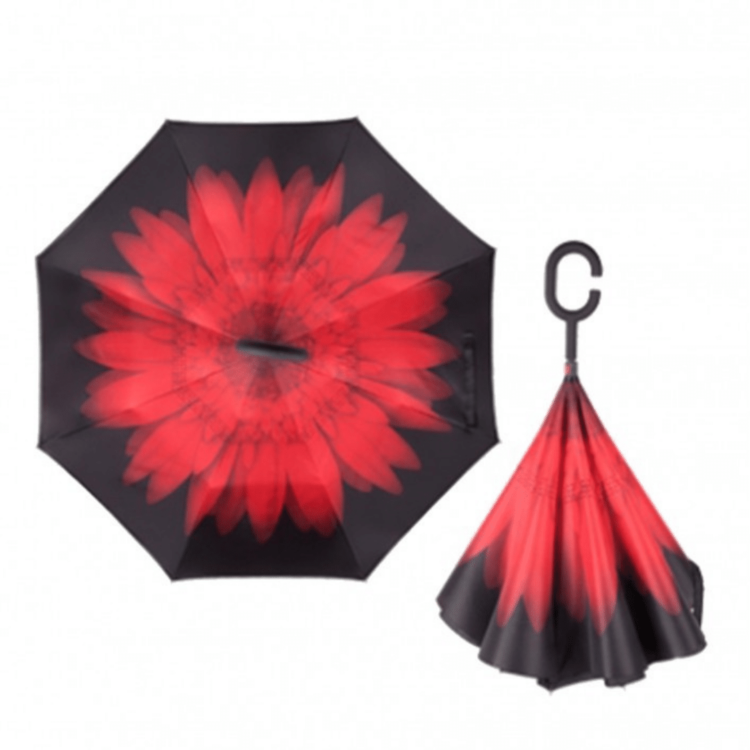 Reversible Umbrella - pink flower