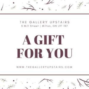 Gift card from The Gallery Upstairs