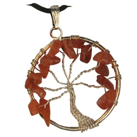 tree of life with gems necklace - 1
