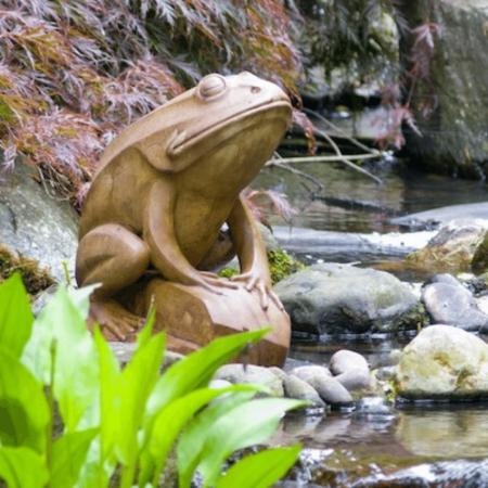 Barry the Frog garden statue art from Castart Studios Collection