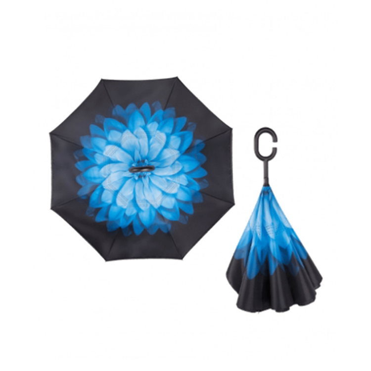 Blue Flower reversible umbrella