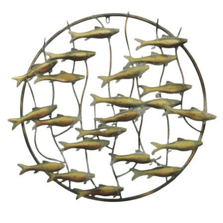 Circular Fish metal art from The Gallery Upstairs