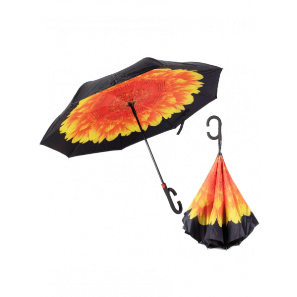 Golden Chrysanthemum Flower reversible umbrella