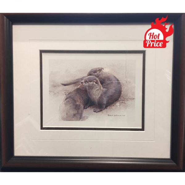 Otters Cavorting print by artist Robert Bateman