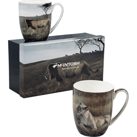Robert Bateman Lions Mug Set of 2