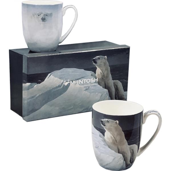 Robert Bateman Polar Bear Mugs set of 2
